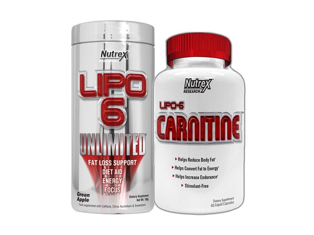 Lipo 6 Unlimited Powder 150g exp. + Lipo 6 Carnitine 60cps