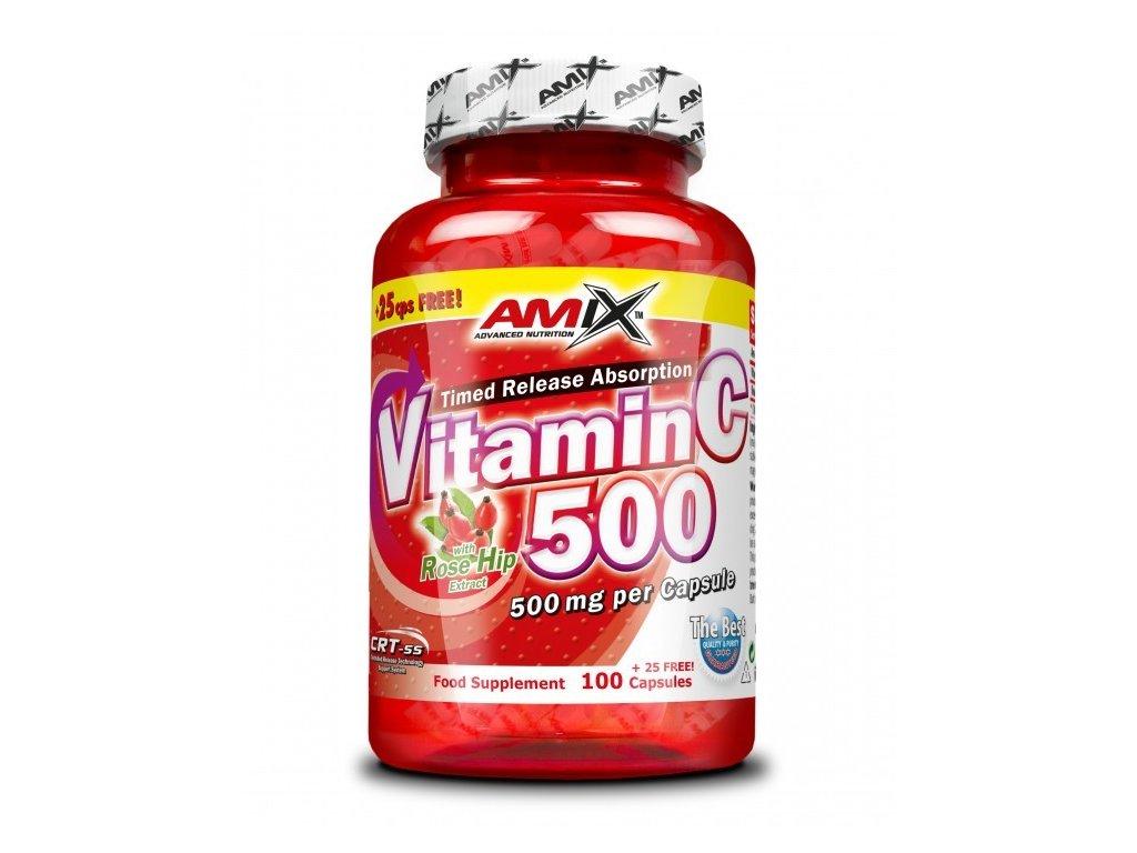 Amix Vitamín C 500 mg 125cps  + CashBack  32 Kč / 1,2 €