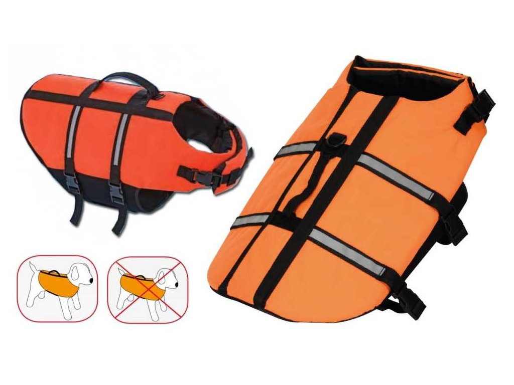 Záchranná/plovací vesta pes XL 45 cm