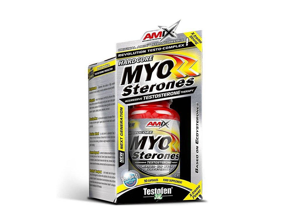 Amix MyoSterones with Testofen 90cps BOX  + CashBack  200 Kč / 7,7 €