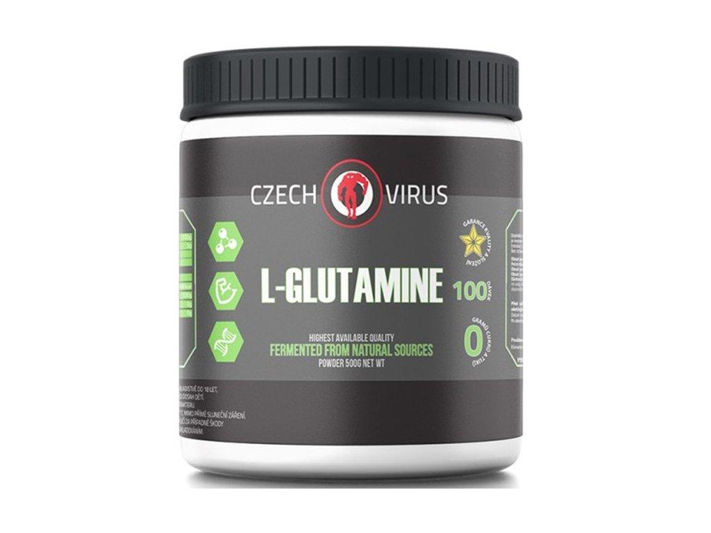 Czech Virus L-Glutamine 500 g  + CashBack  80 Kč / 3,1 €