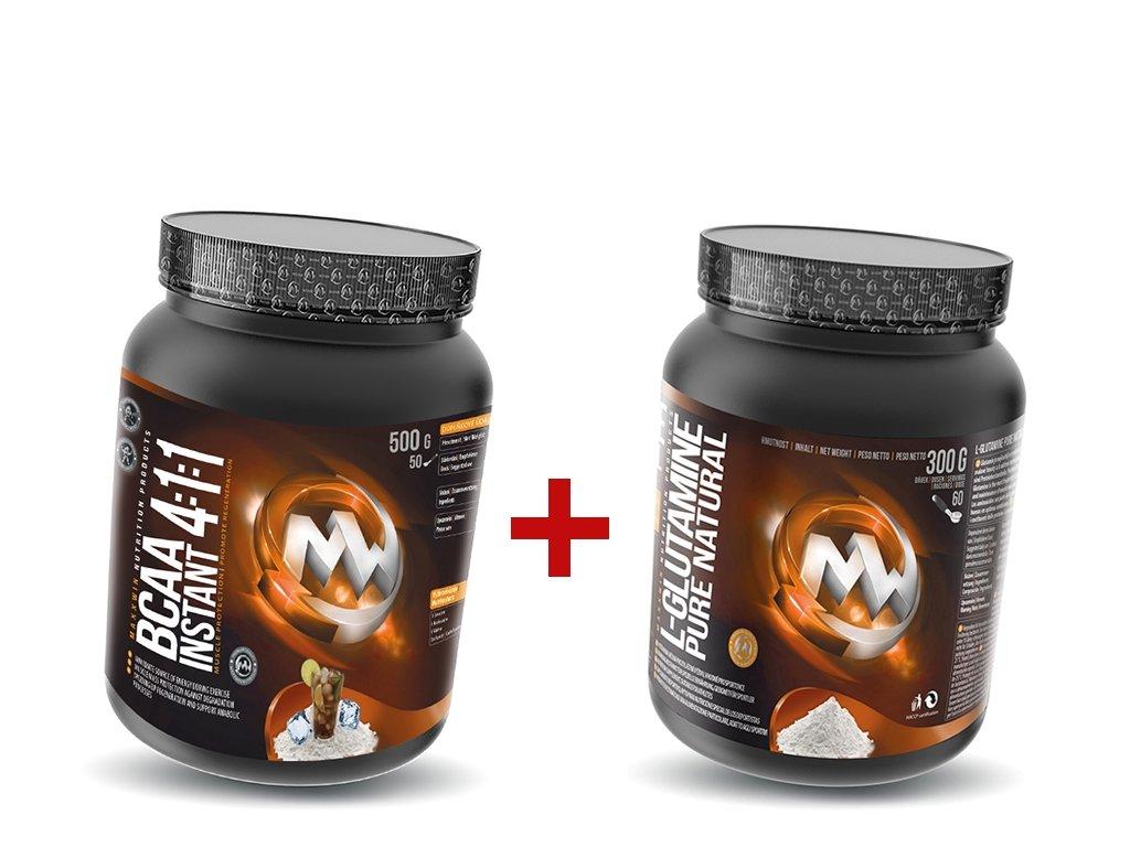 Maxxwin BCAA 411 instant 500 g + Glutamine 300 g