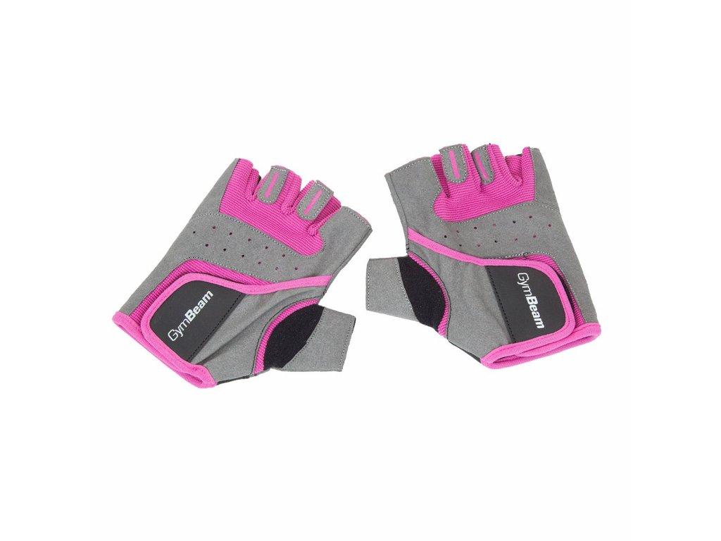 ddf229f7c6b GymBeam Fitness Dámské rukavice šedo-růžové - MuscleNutrition.cz