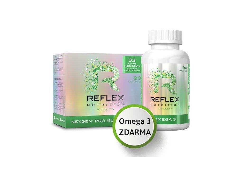 reflex nexgen 90 kaps + nexgen omega 3 zdarma