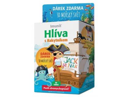Simply You Hlíva JACK HLÍVÁK pro děti 60 tablet +3D mořský svět