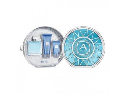 Azzaro Chrome - EDT 100 ml + balzám po holení 50 ml + sprchový gel 100 ml