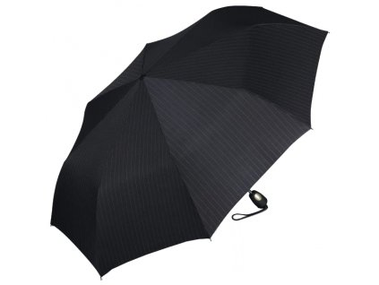 Esprit Pánský skládací deštník Gents Mini Tecmatic Needle Stripe Black