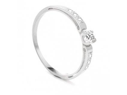 Beneto Exclusive Dámský prsten z bílého zlata se zirkony AUG0002-W-WH