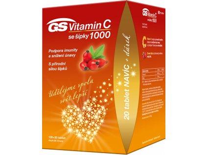 Green-Swan GS Vitamin C 1000 + šípky 100+20 tablet DÁREK 2021