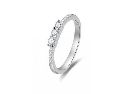 Beneto Třpytivý zásnubní prsten se zirkony AGG464
