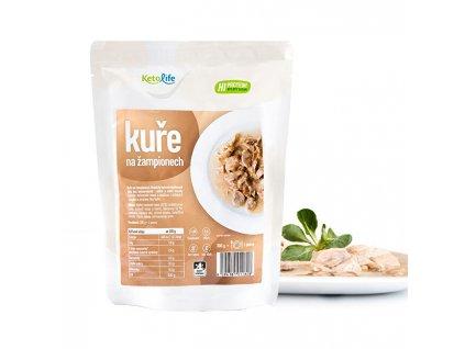 KetoLife Hotové jídlo - Kuře na žampionech - 1 porce