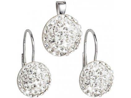 Evolution Group Sada šperků s krystaly Swarovski 39086.1 (náušnice, přívěsek)