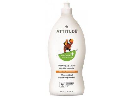 ATTITUDE Prostředek na mytí nádobí Nature+ s vůní citronové kůry 700 ml