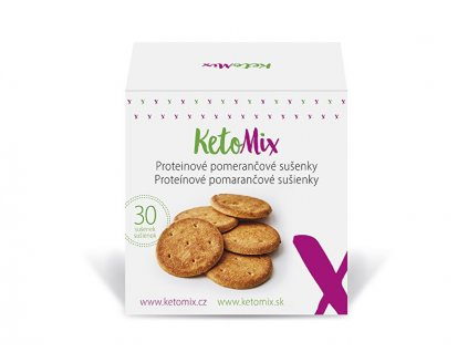 KetoMix Proteinové pomerančové sušenky (30 sušenek)