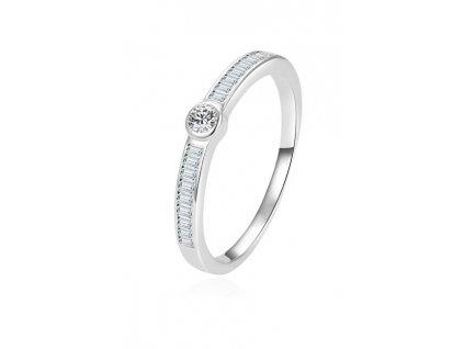 Beneto Nadčasový stříbrný prsten se zirkony AGG303L