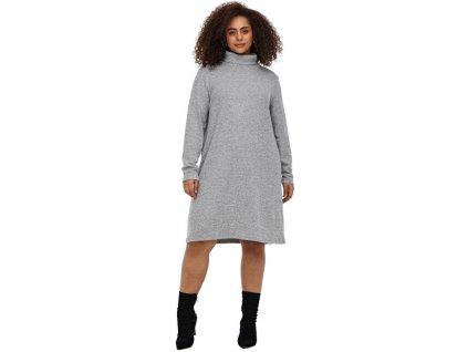 ONLY CARMAKOMA Dámské šaty CARFRILA 15245278 Medium Grey Melange