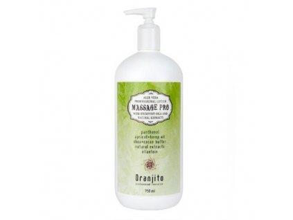 Oranjito Masážní mléko s Aloe Vera (Massage Pro) 750 ml