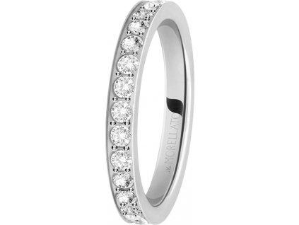 Morellato Ocelový prsten s krystaly Love Rings SNA41