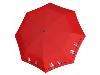Doppler Dámský skládací plně automatický deštník Fiber Magic Cats 7441465C0501