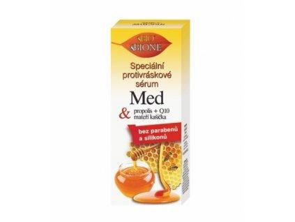 Bione Cosmetics Speciální protivráskové sérum s propolisem a mateří kašičkou Med + Q10 40 ml