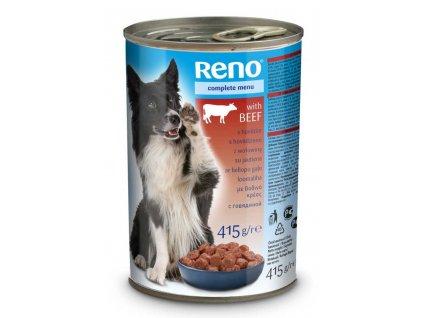 RENO Dog hovězí, kousky 415 g