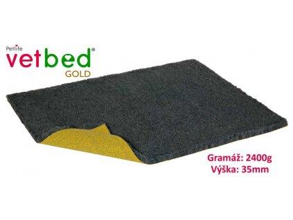 Vetbed Gold grafitová 100 x 75 cm, vlas 35 mm