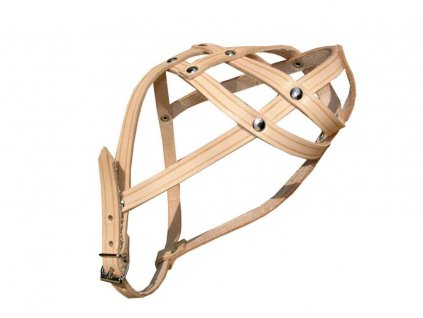 Náhubek kožený páskový Francouzský buldoček
