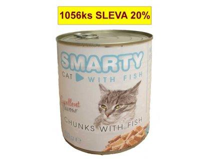 SMARTY Cat Rybí chunks, konzeva 810 g