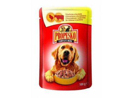 PROPESKO Dog hovězí a kuřecí, kapsa 100 g