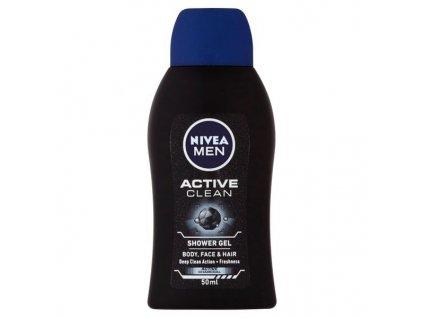 NIVEA Sprchový gel pro muže Active Clean mini (Shower Gel) 50 ml  Dárek k objednávce od 120 € / 3000 Kč