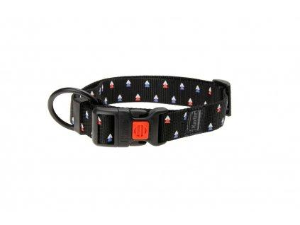 Karlie Obojek ASP Mix&Match černý motiv Trojúhelník velikost L/XL 45-65cm 25mm
