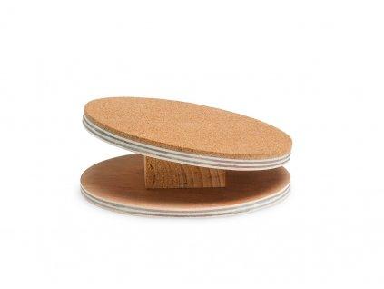 Karlie dřevěný cvičící disk s korkem pro hlodavce, průměr 16cm
