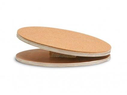 Karlie dřevěný cvičící disk s korkem pro hlodavce, průměr 25cm