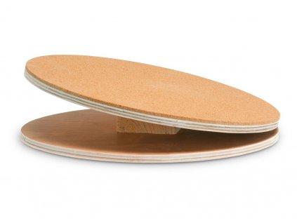 Karlie dřevěný cvičící disk s korkem pro hlodavce, průměr 30cm