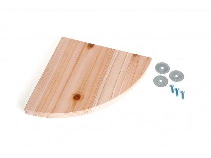 Karlie dřevěné patro/sedátko do klece pro hlodavce, 22x22x1,8cm