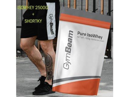 gymbeam pure iso whey + shortky zdarma