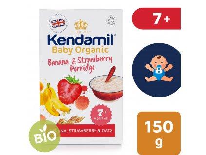 Kendamil BIO/Organická banánovo-jahodová kaše (150 g)