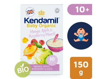 Kendamil BIO/Organická ovesná kaše s ovocem (mango, jablko, malina) – (150 g)