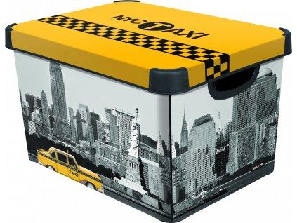 Curver úložný box, vzor New York, velikost L