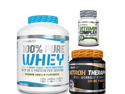 biotech whey protein + nitrox + vitamin complex zdarma