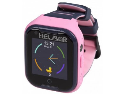 HELMER LK 709 4G růžové - dětské hodinky s GPS lokátorem, videohovorem, vodotěsné
