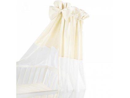 Albero Mio Luxusní nebesa 200 x 150 cm s mašličkou - bílá/ béžová