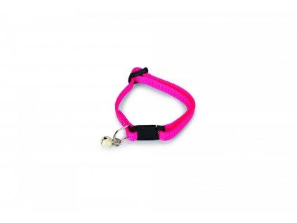 Beeztees Obojek pro koťata nylonový růžový 16-23cm x 8mm
