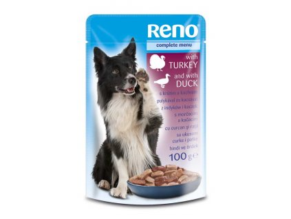 RENO Dog krůta a kachna, kapsa 100 g