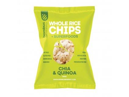 Rýžové čipsy Chia a Quinoa - Bombus