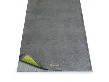 Protiskluzový ručník Yoga Mat Towel Grippy Grey - GAIAM