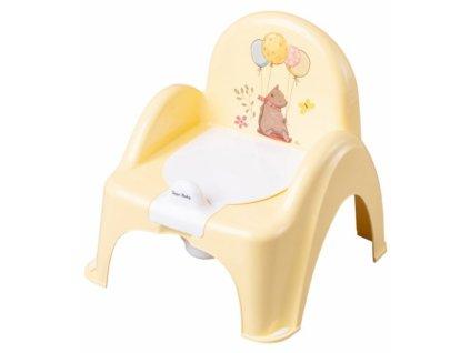 Tega Baby Nočník/židlička Medvídek - žlutý