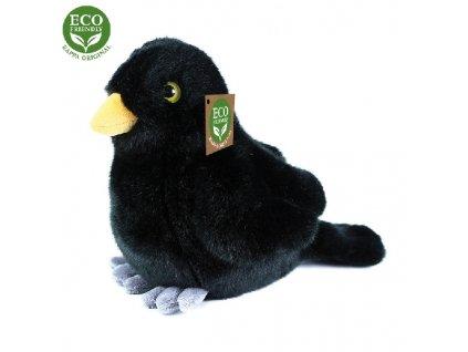 Plyšový pták kos stojící 20 cm ECO-FRIENDLY