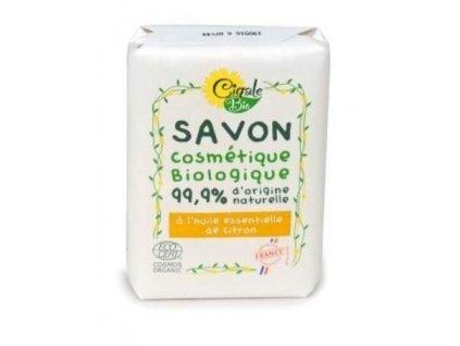 Cigale BIO Mýdlo s citronovým esenciálním olejem 100 g