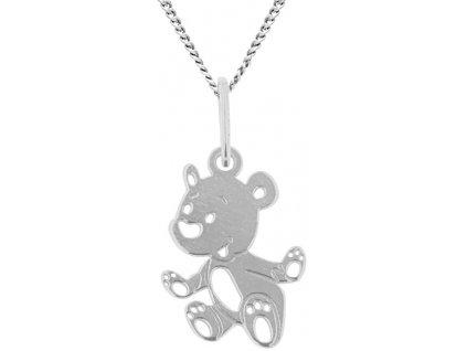 Praqia Dětský stříbrný náhrdelník Medvědí tlapky KO5098_CU035_40_N_RH (řetízek, přívěsek)